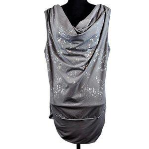 Torrid Sleeveless Blouse 2X Gray Silver